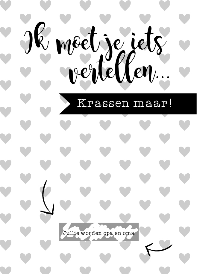 Je zwangerschap aankondigen met een kraskaart van MamaKaart.nl
